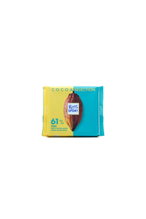 RITTER SPORT 61 COCOA FROM NICARAGUA CHOCOLATE 100G