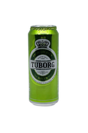 TUBORG BEER GREEN 0.5L CAN